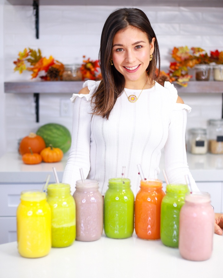 yovana with smoothies