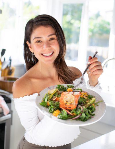 yovana with salmon salad