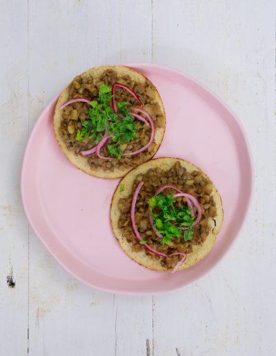 lentil tostadas